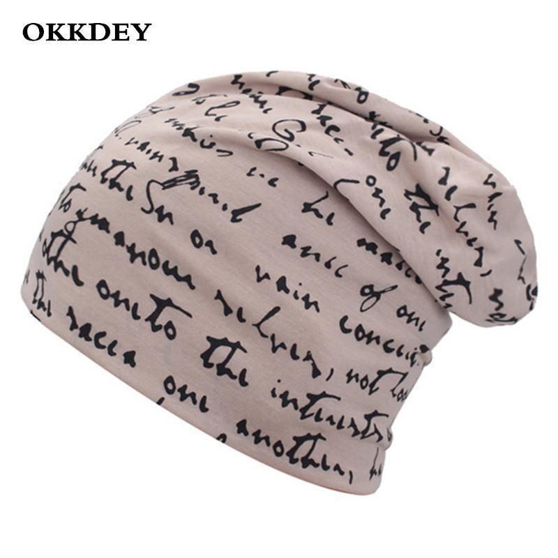 Okkdey Brand Mujeres Hombres Hombrero Gorra Unisex Otoño e invierno Sombrero de punto cálido Damas Skullies Hip-Hop Beanie para gorra para hombre