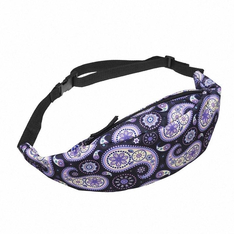 Roxo Amoeba cintura Peito Bolsas bolso no peito Bolsa de Ombro Bolsa de Cintura malote For Ladies Mulheres Moda Fanny Belt Bolsas Messeng P1NE #