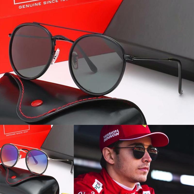 Marque Designer Classic Ronde Sunglasses polarisées Conduite de lunettes Métal Cadre Or Cadre Hommes Femmes Lunettes de soleil Polaroid Lentille 3547F