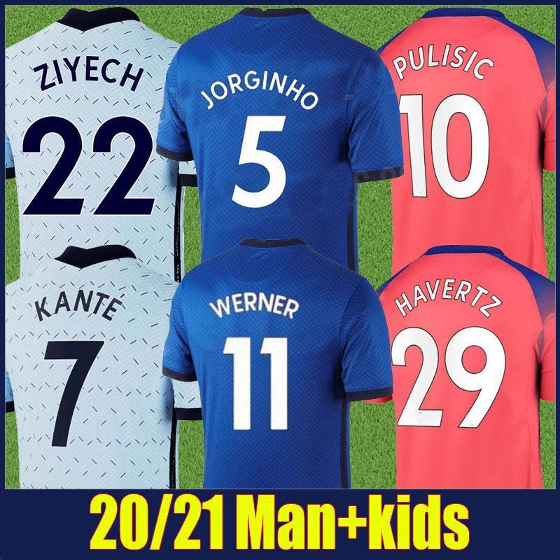 2020 2021 Emekliler Gömlek Blues Jersey Mavi Ev Futbol Jersey Yetişkin Adam Çocuk Seti Christian Kai Futbol Gömlek Camiseta Blues 20/21