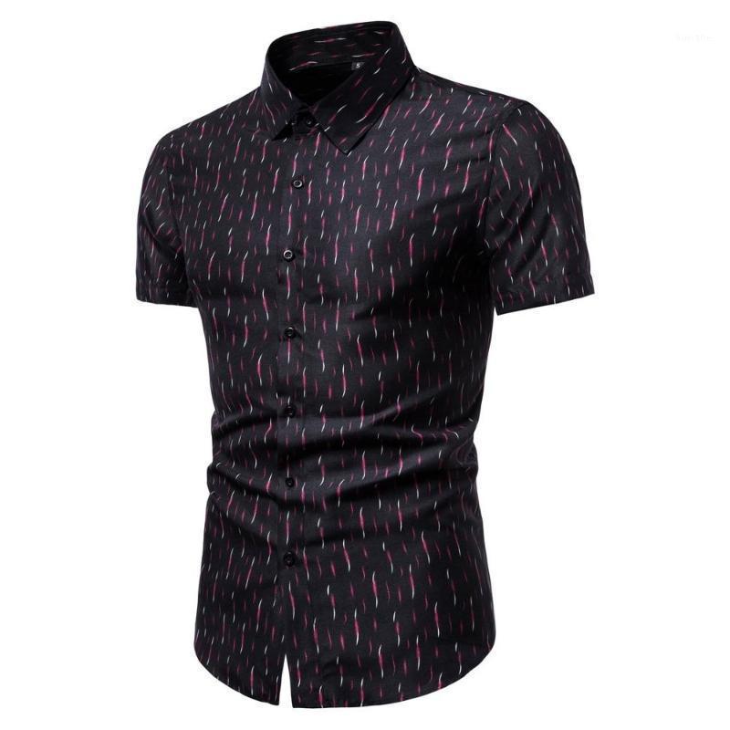 Мужские повседневные рубашки мужские с коротким рукавом человек летняя одежда тонкий хлопок Male1