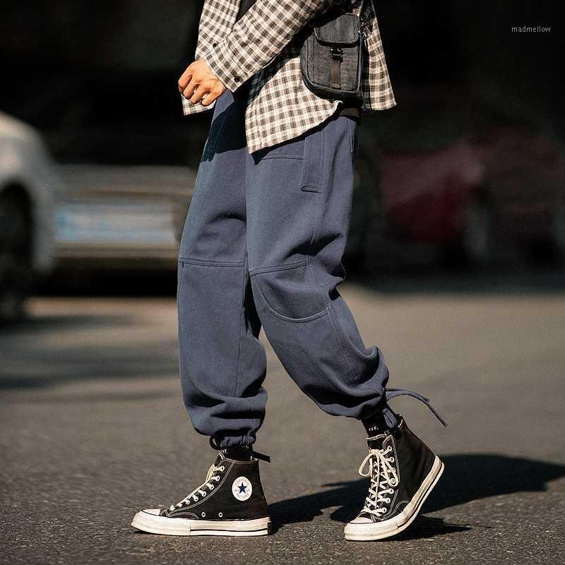 Pantalones para hombres Fox Fitting Pieds Straight Piernas Ancho Can Tie Pie Draw Draw Casual Cargo1