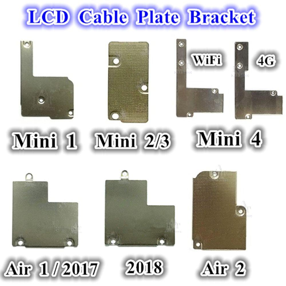 1 ADET LCD Flex Kablo Plakası Metal Braketi Tutucu Için iPad 2017 2018 Hava 1 2 Mini 1 2 3 4 LCD Kablo Plakası Yedek Parçalar