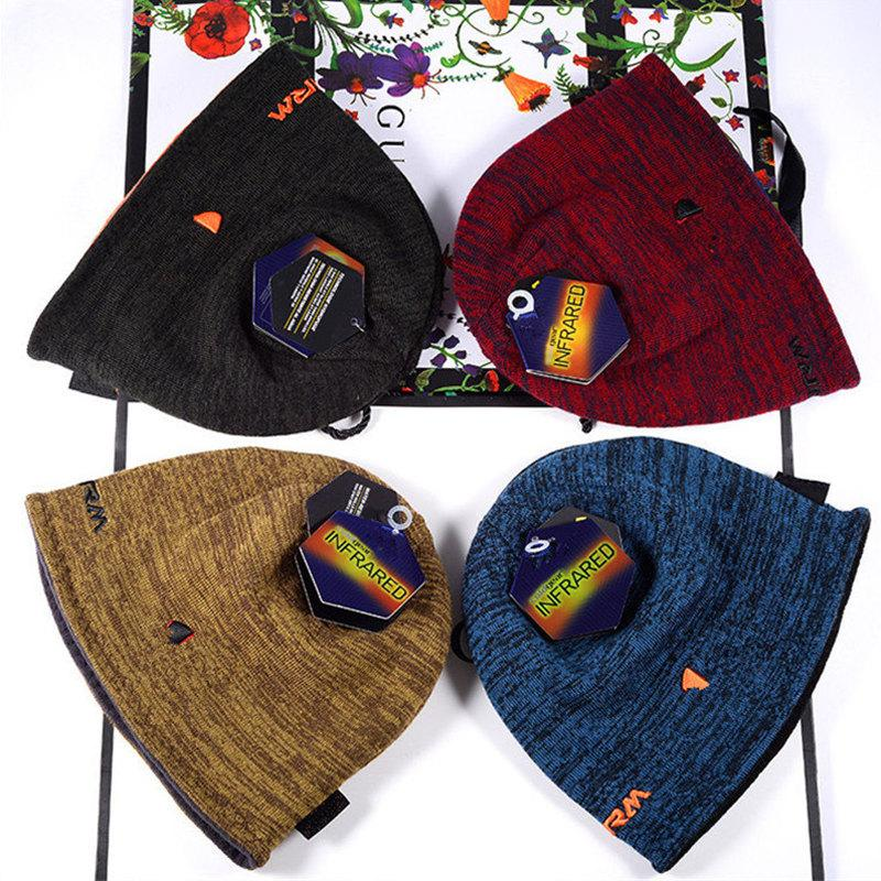 Unisex Beanie Реверсивные вязаные шляпы Зимний флис череп Cap Cap Capnet двусторонняя изнашивающая шляпа мода шапочки модный дизайн теплые колпачки шляпы рождество