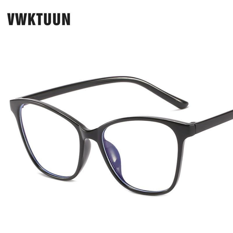 VWKTUUN Vintage-Brillen Frames Frauen Männer Brille Cat Eye Anti Blue Hellbrillenfassungen Männer in Übergröße