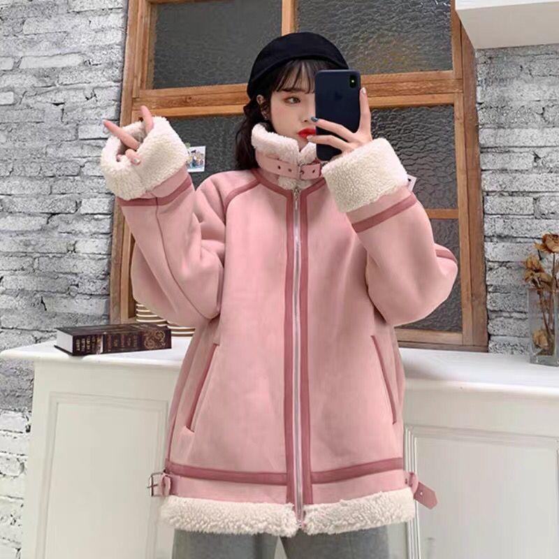 Frauen Pelz Faux Frauen 2021 Herbst Winter Dicke Mantel Weibliche Warme Weiche Jacke Oberbekleidung Damen Lässige Mode Gefälschte Mantel S728