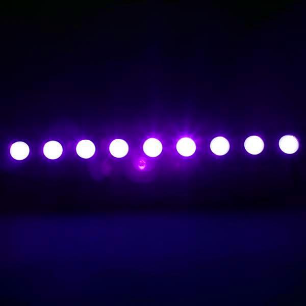 Sconto AC100V-240V 260W UV 9-LED Telecomando / Auto / Sound / DMX Purple Light DJ Festa di nozze Palcoscenico Black Black