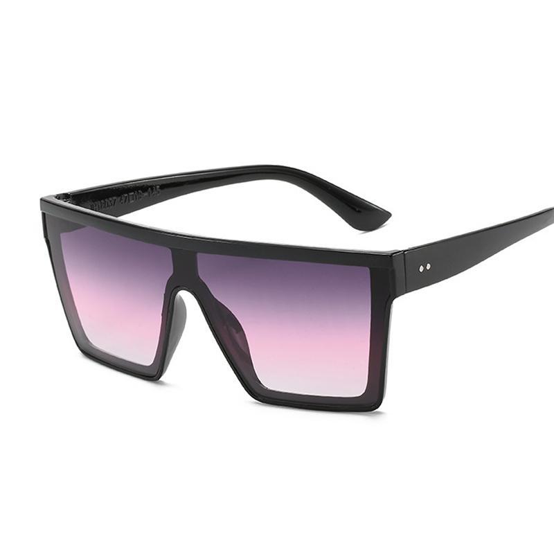 Mode Platz Sonnenbrille Frauen Übergroße Kunststoffrahmen Sonnenbrille Männliche Weibliche Marke Designer Ozeanspiegel Gafas de Sol Q0121