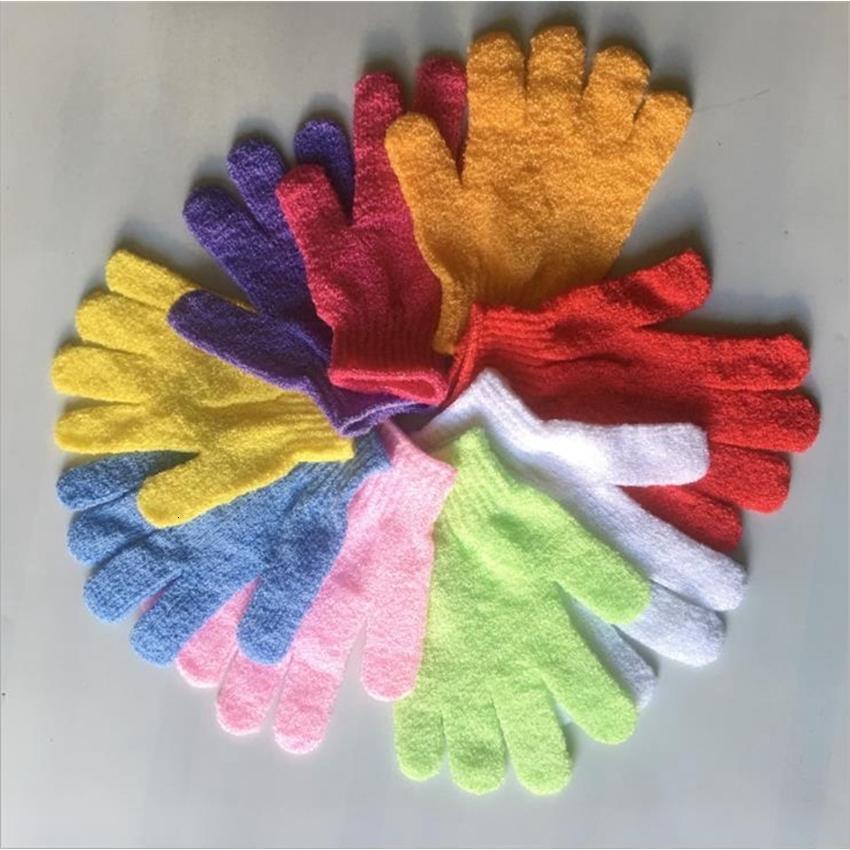 Douche cinq doigts gants de spa massage de corps nettoyage de lavabo Bain de bain Toile de bain 9 couleurs BT683