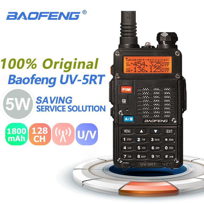 Baofeng UV-5RT Walkie Talkie Dual Band UHF VHF FM радиочастотная ветчина радио HF трансивер Baofeng UV-5R PLUS версия Woki Toki