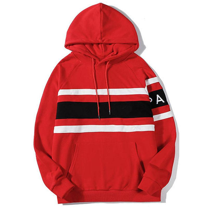 Berühmte Stylist Herren Hoodies Stripes Paris Hoodie 2021 Männer Frauen Paar Outdoor Street Fashion Hip Hop Hooded Sweatshirt