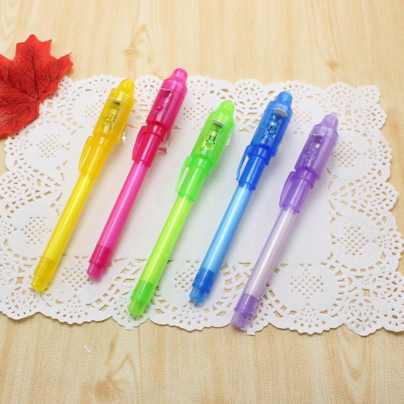 Papeterie Creative Magic UV stylo de lumière intégrée Invisible stylo d'encre Funny Marker Stylo Fournitures pour enfants Cadeaux Dessin WB3185