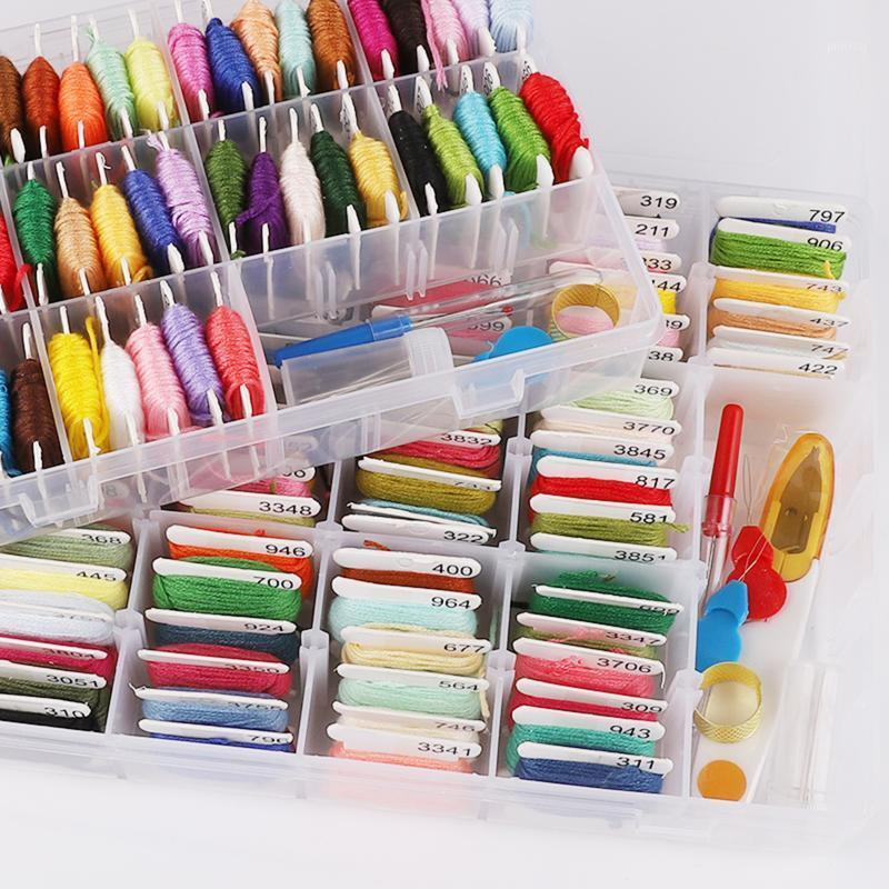 100/50 Colors Embroidery Needle Thread Set Cross Stitch Floss Rainbow Sewing Threads DIY Sewing Accessories Kit Tool For Women1