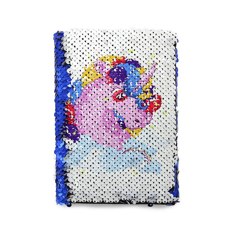 Sublimation Blank Notepads Unicorn Flamingo Flipping Mermaid Sequin Notepad Two Color Red Blue Note Pad A5 Fashion Girl 15 8ex G2