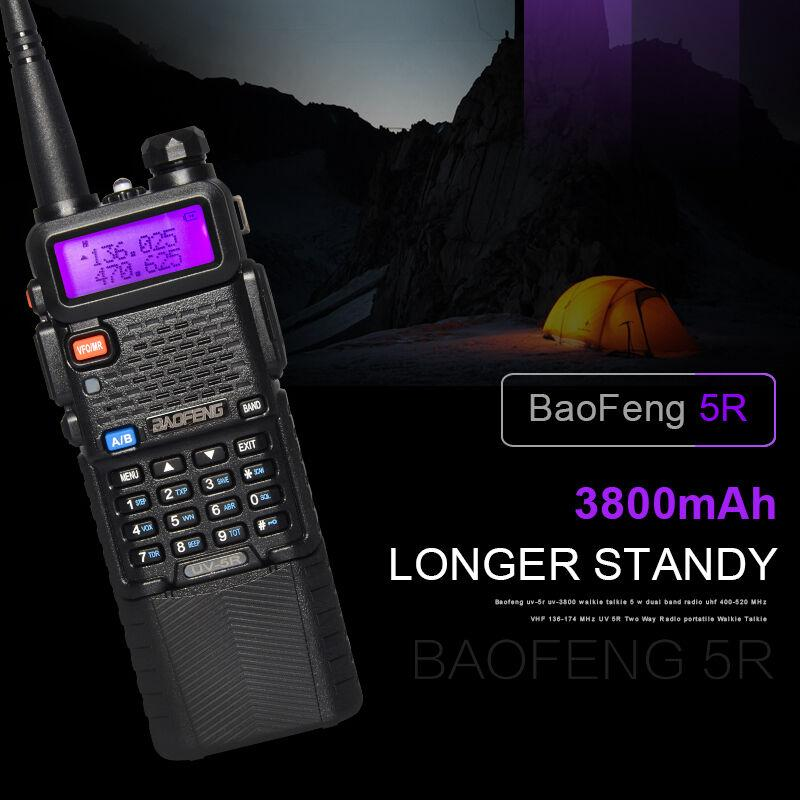 Baofeng UV-5R Walkie Talkies Talkies à double bande Dual Band VHF / UHF Long gamme