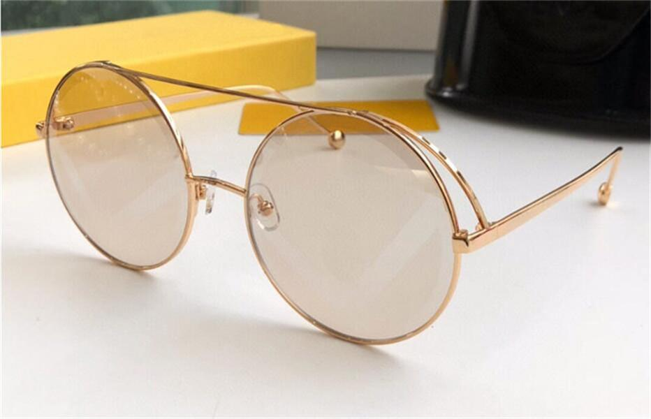 New fashion design sunglasses 0285S round metal frame popular avant-garde style selling uv400 protective glasses top quality