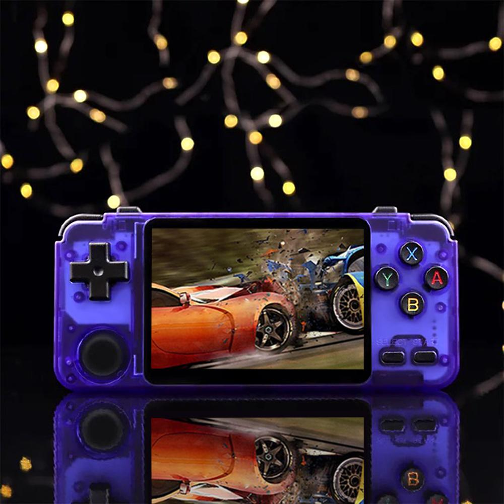 RK2020 retro handheld video game console 3.5inch IPS screen portable game player PS1 childhood games rk2020 Purple Translucent Y1123