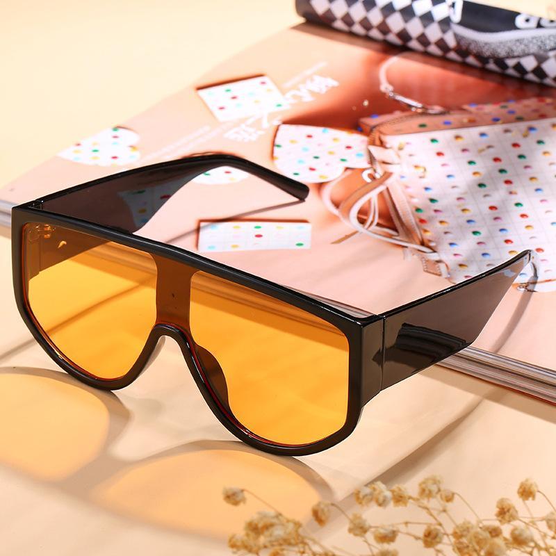 Eine stück große Sonnenbrille Persönlichkeit und amerikanische Mode-Sonnenbrille
