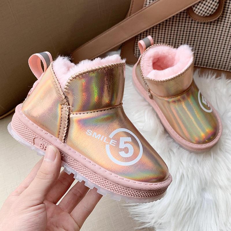 F6II Yüksek AB Son Lüks Tasarım Kürk Erkek Bebek Kız Kadın Çocuklar Papyon Kar Botları 25-41E8B5 Entegre Sıcak Boots Kalite Boyutu Kısa Tutun #