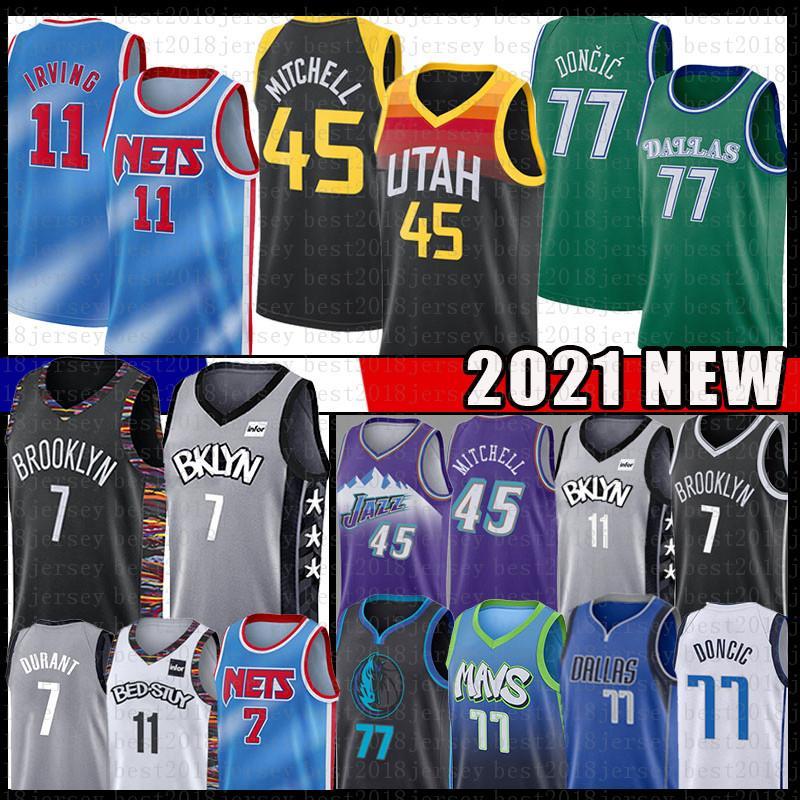 Donovan Kyrie Luka Irving 77 Mitchell Kevin Doncic Durant Jersey BrooklynNETS.DallasMavericks.UtahJazzBasketball