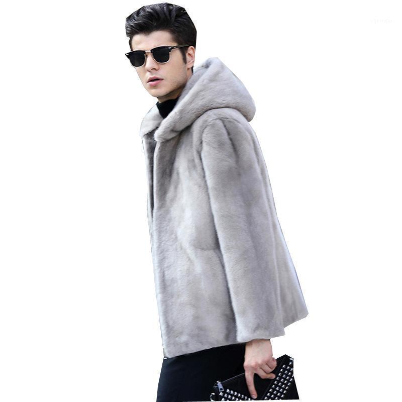 S-6XL Новая Мода Зимняя Одежда Мужская Меховая Шубаты Высокое имитационное пальто с капюшоном Среднего возраста Мужские Мужские Jackets1