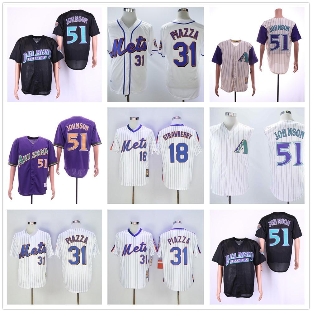 새로운 도매 남자 Darryl 딸기 저지 마이크 마이크 Piazza # 30 마이클 conforto 야구 유니폼 셔츠 최고 품질