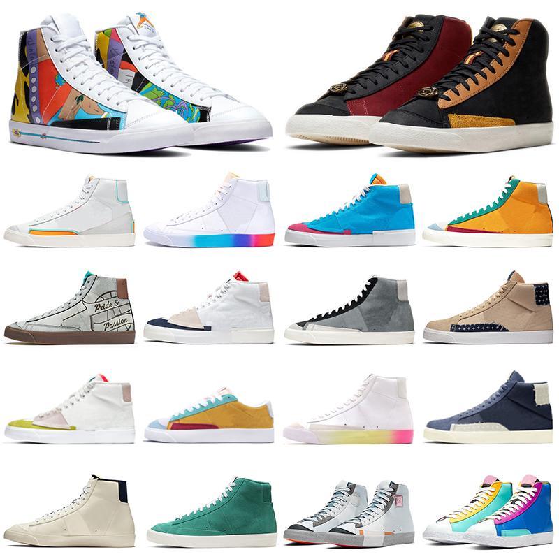 blazer mid 77 chaussures décontractées mode hommes femmes ont un bon jeu City Pride Cool Grey Dorothy Gaters baskets de sport en plein air formateurs coureurs
