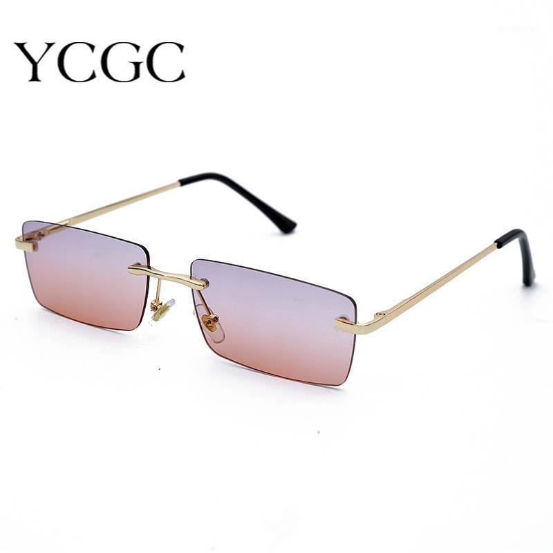 Óculos de sol mulheres tendendo 2020 sem aro quadrado polarizado vintage sol tonalidade sombra para senhoras retângulo óculos1