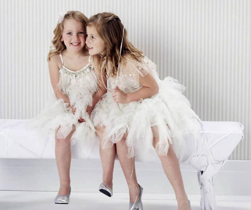 بوتيك الفتيات فساتين الترتر ريشة طفلة اللباس الأزياء أكمام الفتيات اللباس مصمم الأميرة اللباس فساتين رسمية B2954