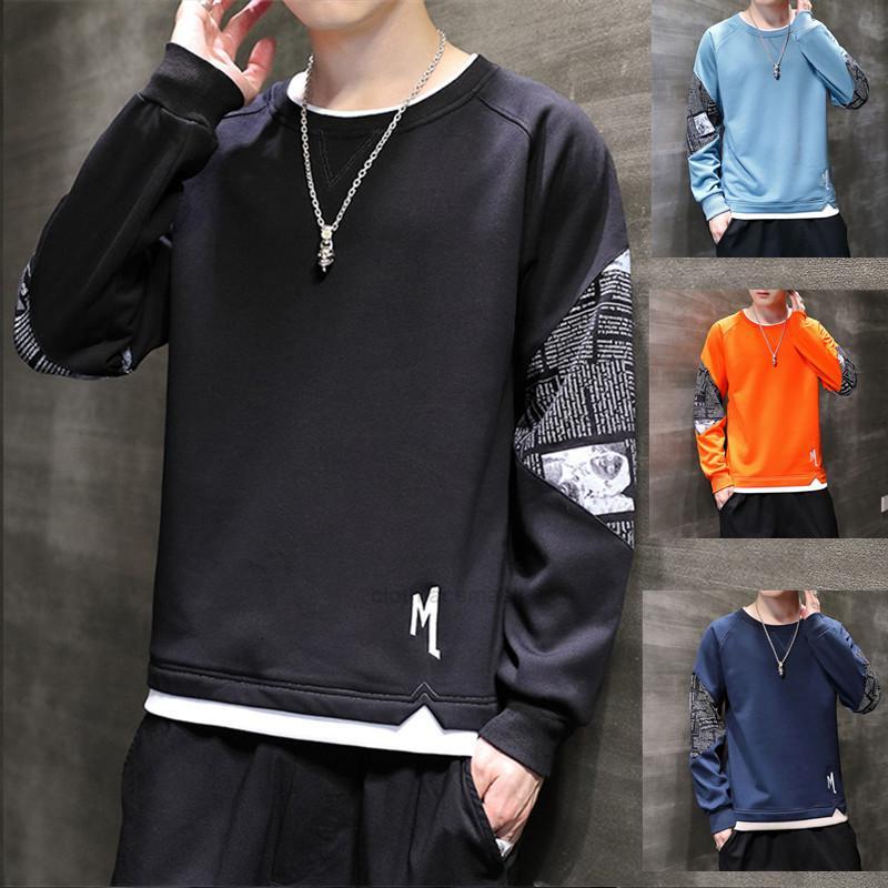 New Sweater Wearxhquo7 Manga Longa Outono T-shirt Estilo Estilo Ins Coreano Pullover Bottom Top Versão 2020 DXGUS
