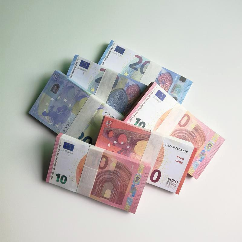 Euro Hohe Qualität Prop Geld Faux Billet 10/20 EUR Rechnungen Fake Spiel Geld 100pcs / Pack Kostenloser Versand