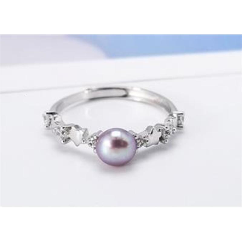 Стерлинговая жемчужная личность творческий темперамент S925 серебряное открытое кольцо