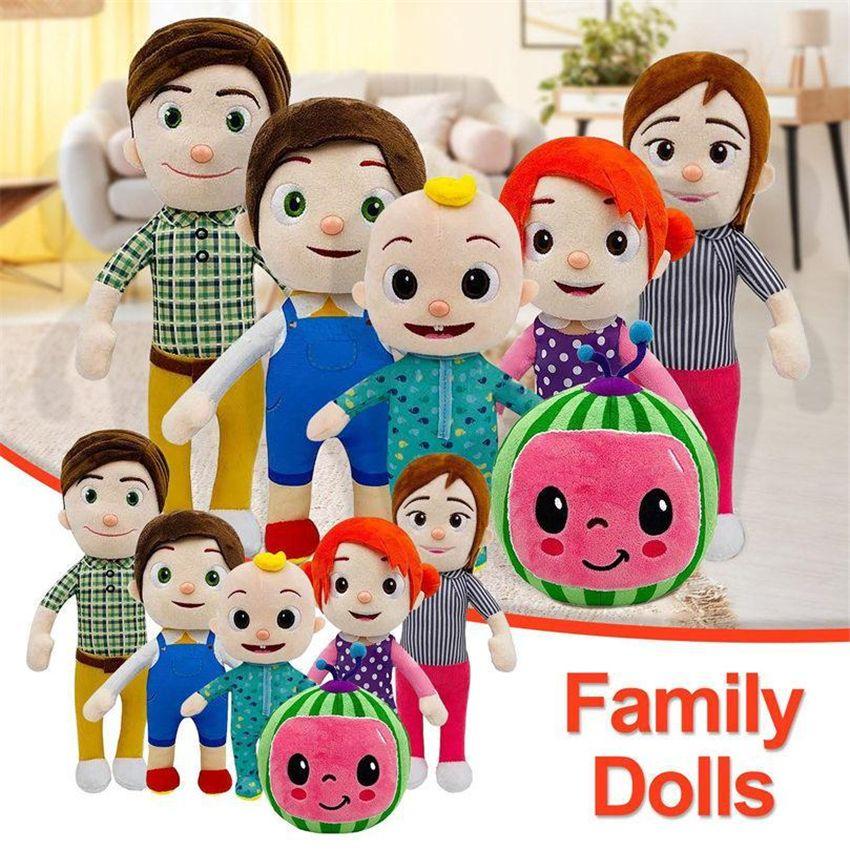 15-33 см Cocomelon плюшевая игрушка мягкая мультфильм семейство Cocomelon JJ семья сестра сестра брат мама и папа игрушка Dall дети христианские подарки оптом