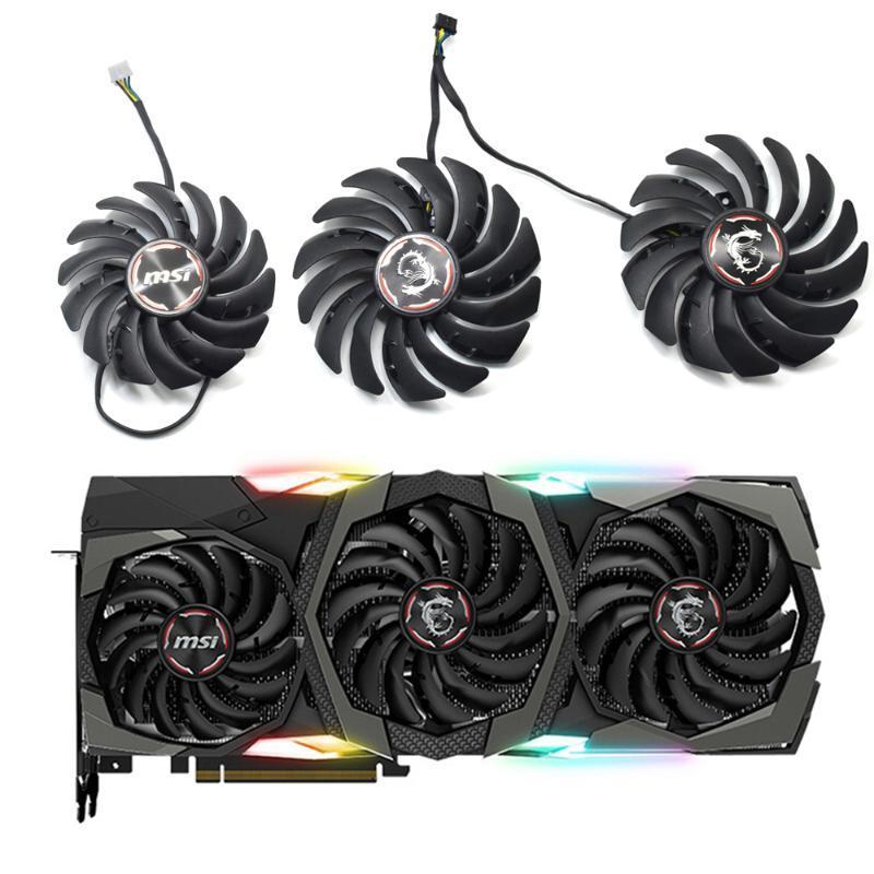 Novo PLD09210B12HH PLD10010B12HH RTX 2080 Graphic Cooler Ventilador para MSI GeForce RTX 2080 2080TI 2070 Super Gaming x Trio Video Card