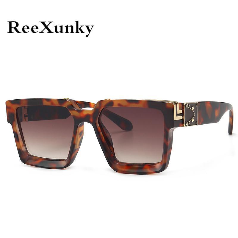 Güneş Gözlüğü 2021 Boy Kare Erkek Kadın Tasarımcı Vintage Güneş Gözlükleri Degrade Shades UV400 Üst