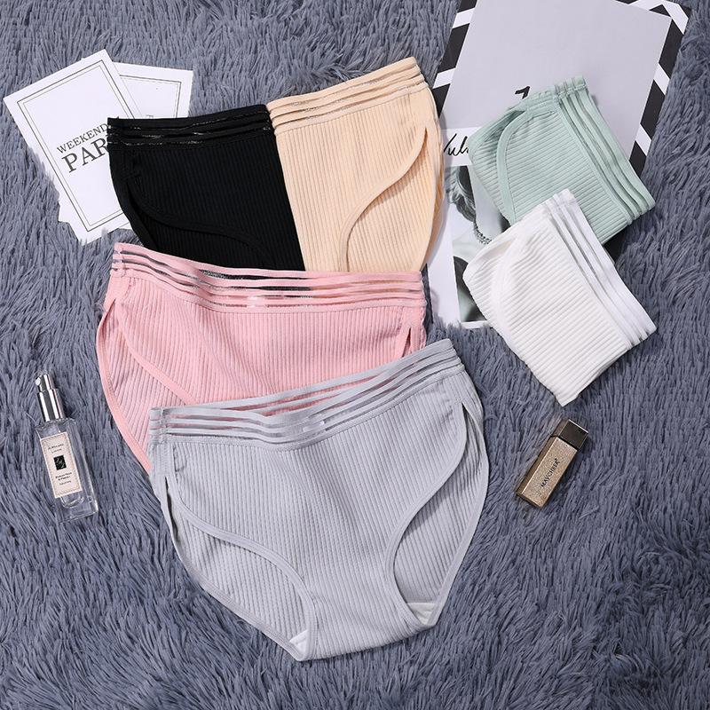 Borde cómodo calzoncillos hembra suave bragas mujeres transpirable algodón entrepierna ropa interior intimates moda estilo caliente cordón lencería