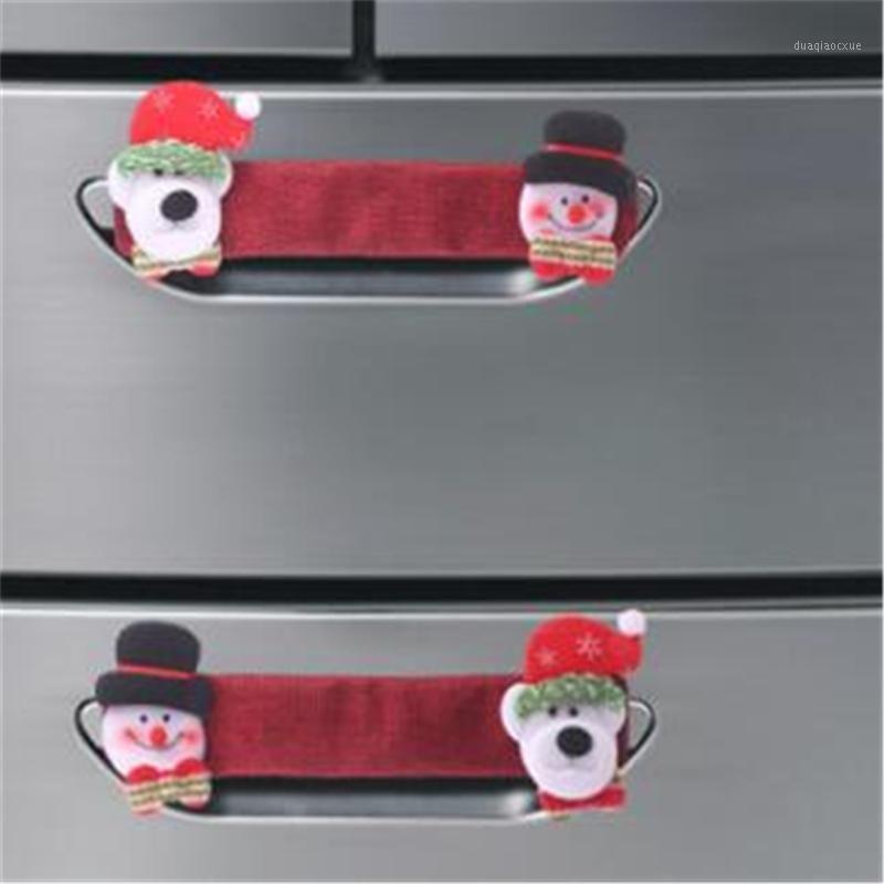 Рождественские украшения Симпатичные украшения Креативная Тканевая Дверная Ручка Декор Для Микроволновой Печь Холодильник Чехол Pendant1