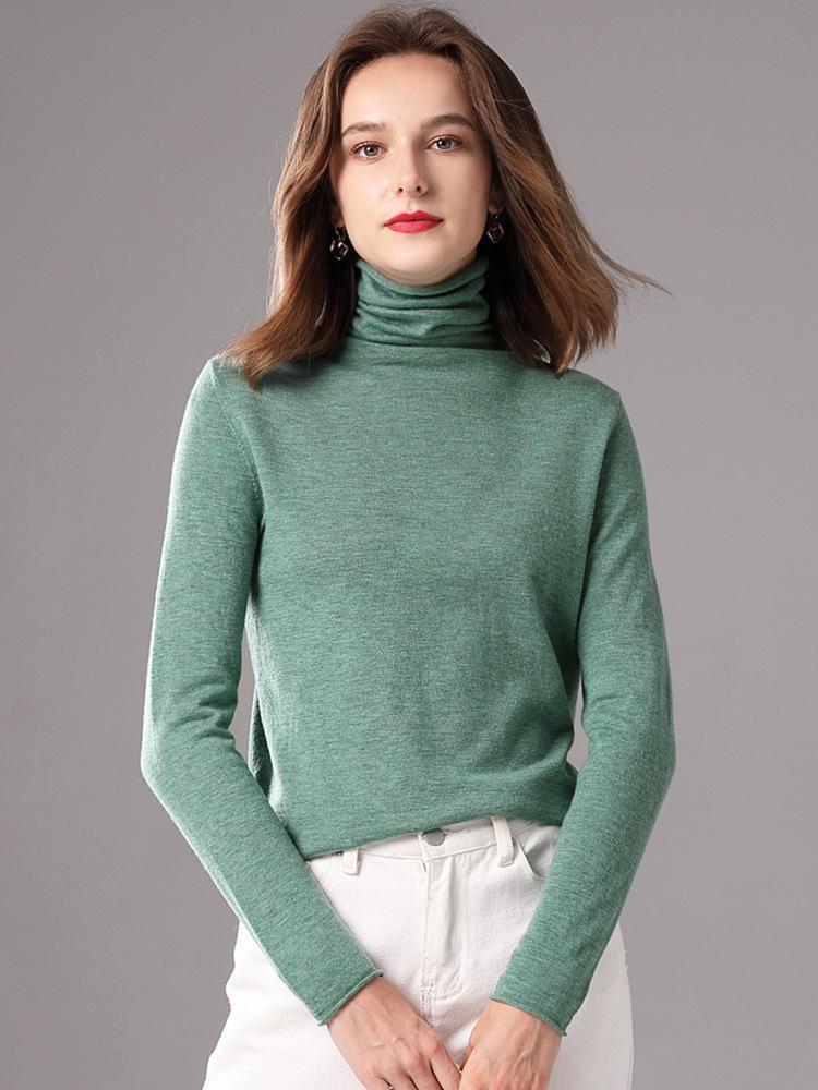 Женские свитеры 2021 повседневная целый матч кашемировый свитер высокое качество
