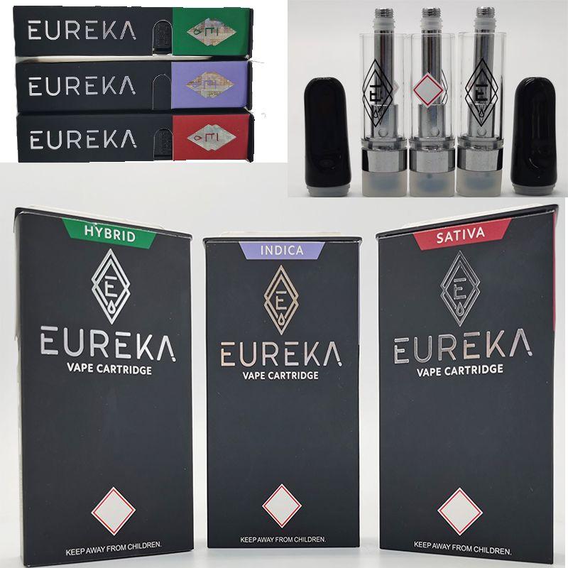 Eureka Premium Extraire Chariots de vapeur avec boîte-cadeau Emballage Atomizer vide Vape Stylo Eureka Clair Ceramique Conseil 510 Cartouches de fil En stock