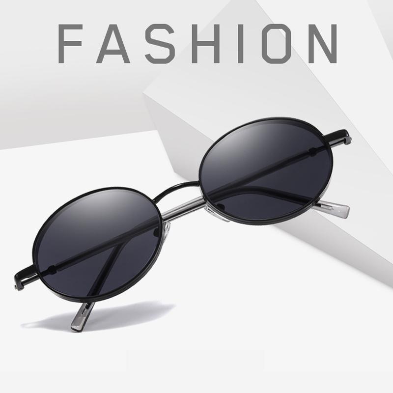 Mulher design vocação oval óculos de sol uv400 metal óculos de sol gradiente lentes molduras de moda moldura para mulheres pequenas novas compras mlqea