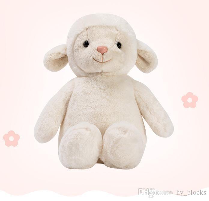 1 unid 23 cm Lindo Ovejas Peluche Toy Soft Dibujos Animales Lamb Stuffed Muñeca Llama Toys Baby Almohada Little Girls Regalos de cumpleaños