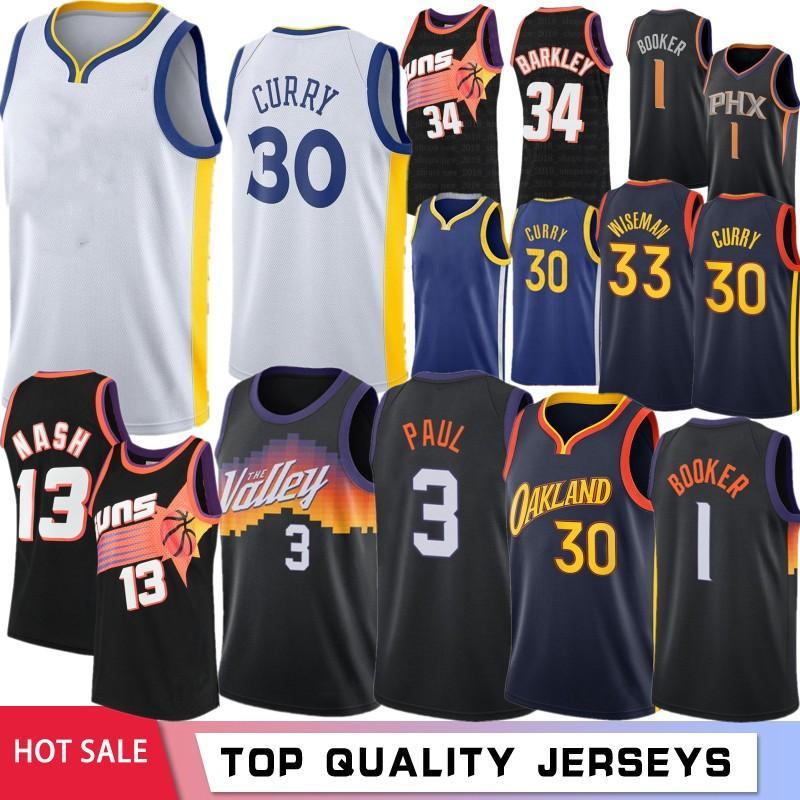 NCAA Stephen 30 Köri Erkek Koleji Basketbol Formaları DeAndre 22 Ayton Devin 1 Booker Steve 13 Nash Charles 34 Barkley 2021