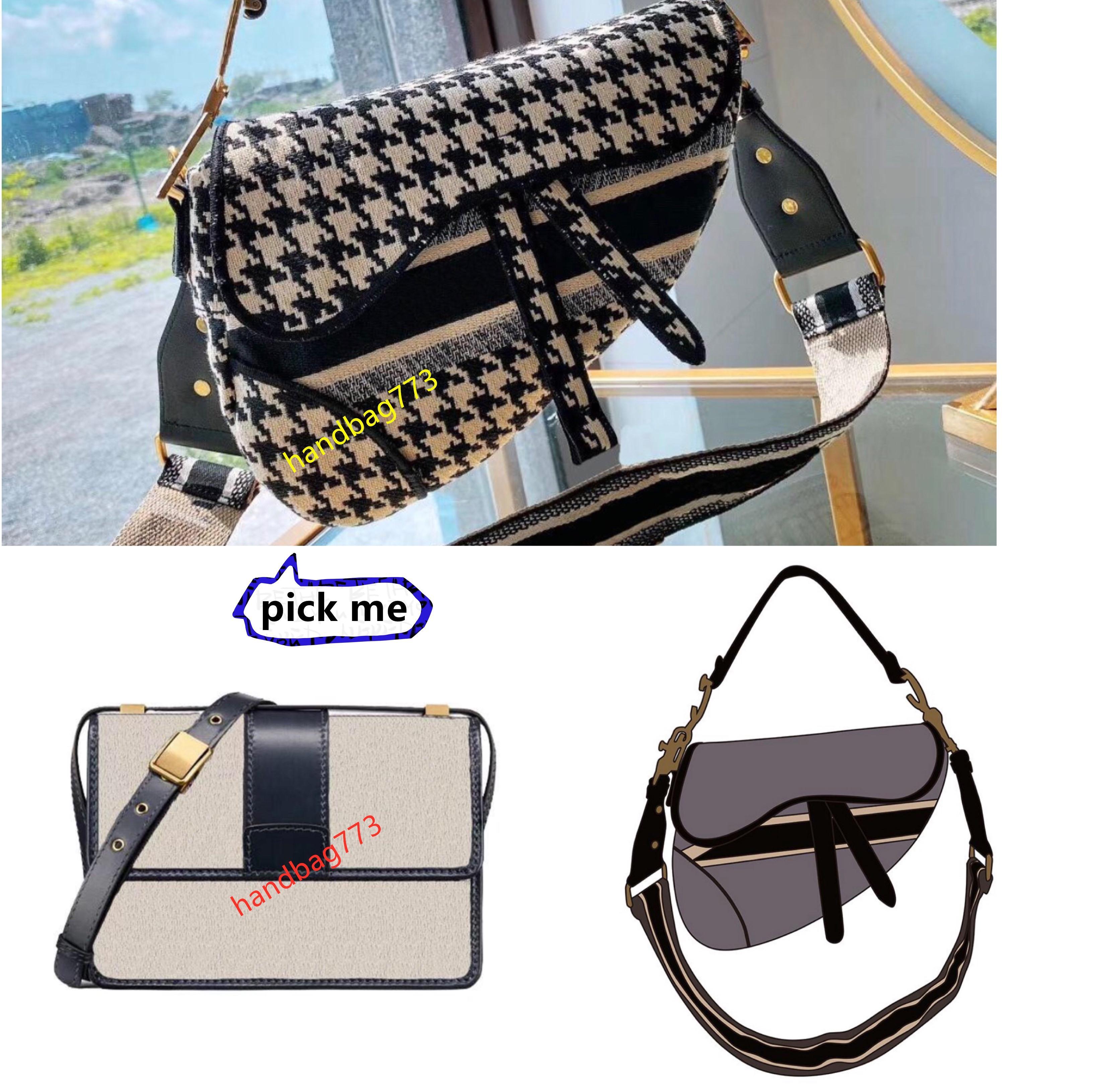 Nuevo diseño de moda clásico bordado bolsa de silla de montar para mujeres lujos diseñadores bolsas de cuero lentes bolsa de hombro cruzado bandolera de alta calidad