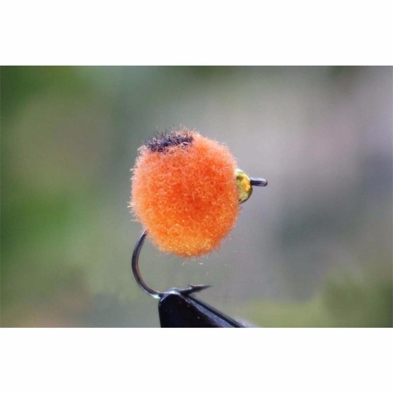 TigoFly 36 шт. / Лот оранжевый / белый / красный латунный BeaDead яйцо Fly Fly Glo Bug Salmon Fley Fly Flies Flies Flear Fly 201102