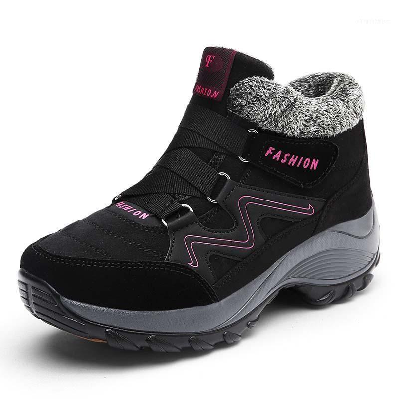 Зимние женские сапоги плюшевые теплые на открытом воздухе пешеходные туфли водонепроницаемые снежные сапоги Удобные Женские Обувь кроссовки не скольжения Ankle1