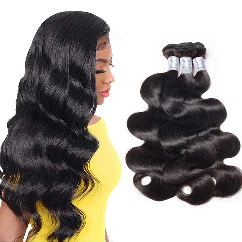 8A Virgin Brasileño Brasil Wave Hair Peruian Body Weave Play Bundles Malasia India India Transextressed Pelo 1b Black Barate Extension