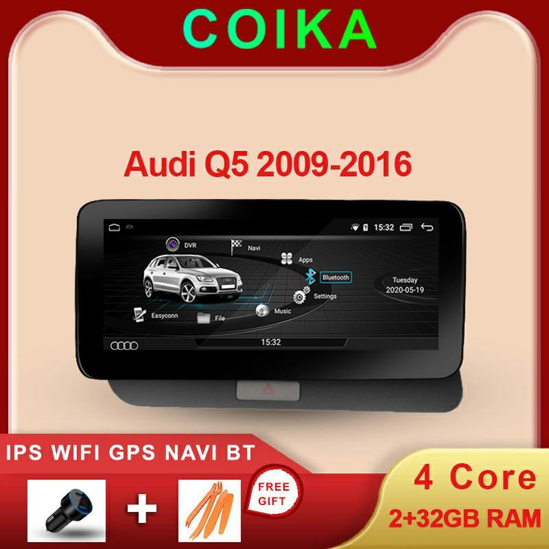 """Android 10 Sistem 10.25 """"Audi için Araba DVD IPS Multimedya Oynatıcı Q5 2009-2017 GPS Navi Google Wifi Ayna Bağlantı Bluetooth SWC"""