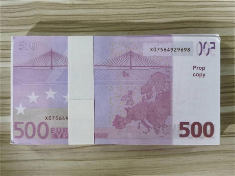 2020 Vente chaude Moderne Argent Euro 5/10/20/50 Copier de papier Banknote PROP ARGENT EUR 100 PCS / PACK 24