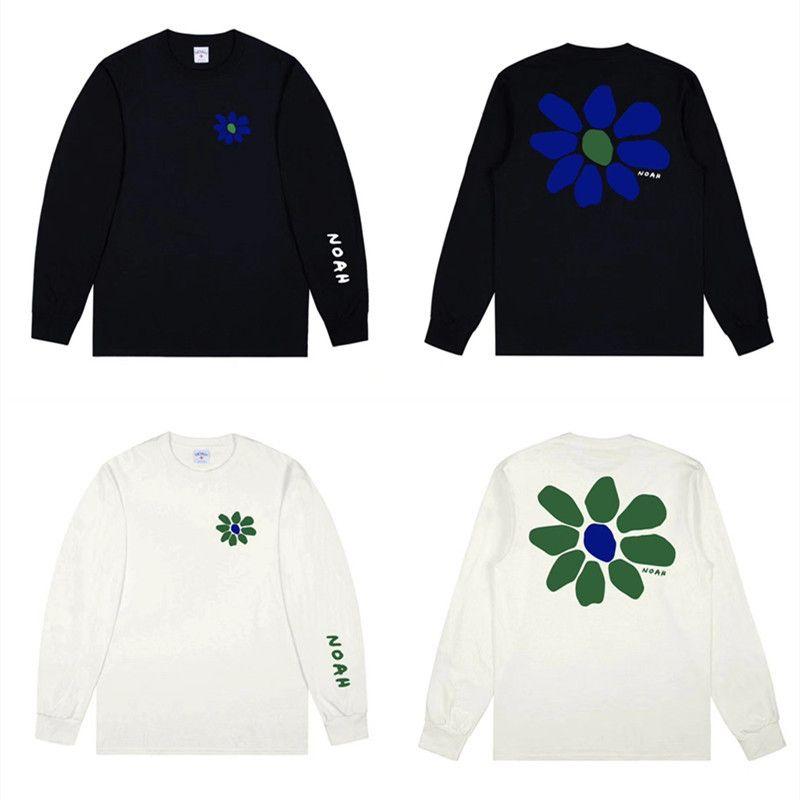 2020FW Noah Core Automne Bloom T-shirt Hommes Femmes 1: 1 Meilleur T-shirt à manches longues à manches longues T-shirt x1227