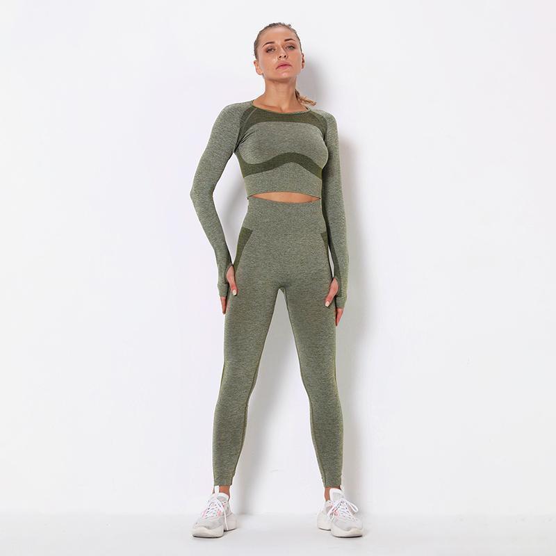 Atacado Treino Personalizado Fitness Tummy Control Sports Yoga Set Leggings1